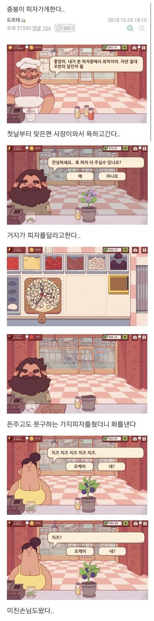 게임 속 피자가게를 오픈한 디씨인 1.jpg