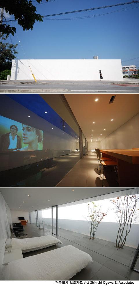 벽 속에 또 하나의 공간, 미니멀리즘 주택
